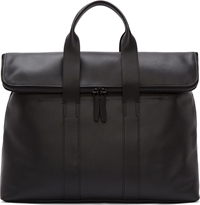 3.1 Phillip Lim Black Leather 31 Hour Tote Bag