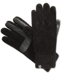 Isotoner Signature Chenille Knit Palm Tech Touch Gloves Black