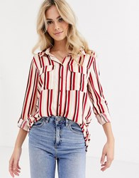 Pimkie Striped Shirt In Red
