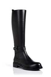 Sergio Rossi Knee High Leather Riding Boots