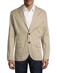 Nautica Solid Two Button Suit Beachsand