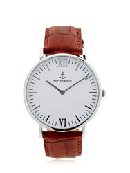 Kapten And Son 40Mm Embossed Leather Watch