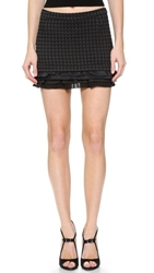 N 21 Tiered Hem Miniskirt Black