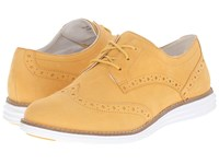 Cole Haan Original Grand Wingtip Mineral Yellow Optic White Women's Lace Up Wing Tip Shoes