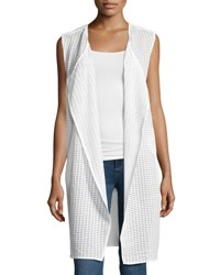 Nic Zoe Draped Grid Print Vest White