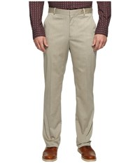 Perry Ellis Regular Fit Stretch Heather Twill Dress Pants Natural Linen Men's Dress Pants Beige