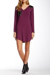 Vfish Keeper Faux Leather Accent Dress Purple