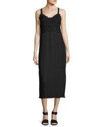 French Connection Posy Lace Strappy Maxi Dress Black