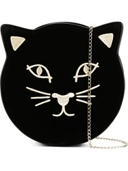 Charlotte Olympia 'Kitty' Clutch Black