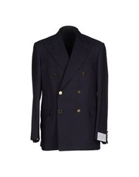 Ballantyne Suits And Jackets Blazers Men Dark Blue