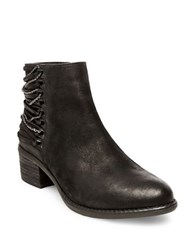 Steve Madden Chily Strappy Nubuck Booties Black