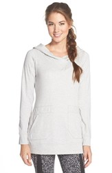 Women's Lole 'Call You' Fleece Hooded Tunic Warm Grey Heather