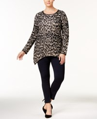Inc International Concepts Plus Size Leopard Print Tunic Created For Macy's