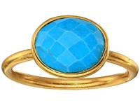 Dee Berkley Single Oval Stone Adjustable Ring Turquoise Turquoise Ring Blue
