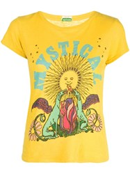 Mother The Boxy Goodie Goodie T Shirt Yellow