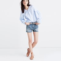 Madewell The Perfect Jean Short In Cicely Wash