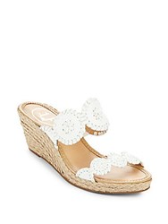 Jack Rogers Shelby Espadrille Wedge Sandals White
