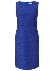 Jacques Vert Petite Textured Dress Bright Blue