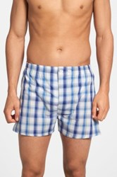 Nordstrom Classic Fit Cotton Boxers 3 Pack Blue