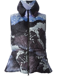 Peter Pilotto 'Alps' Print Padded Gilet Pink And Purple