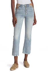 Free People Novelty Straight Jeans Blue
