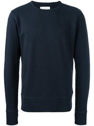 Officine Generale 'Sweat' French Terry Sweatshirt Blue