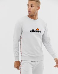 Ellesse Mexicali Sweat With Taping In Light Grey