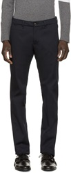 Moncler Navy Twill Stretch Trousers