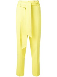 Ermanno Scervino Belted Straight Leg Trousers Yellow