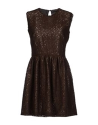 Mary Jane Short Dresses Dark Brown