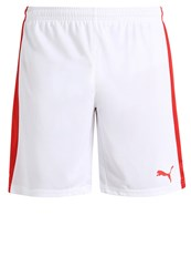 Puma Pitch Sports Shorts White Red