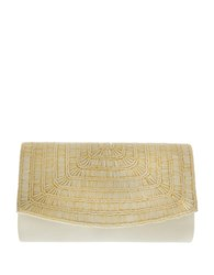 Nina Hennesy Beaded Convertible Clutch Champagne