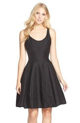 Women's Halston Heritage Cotton Blend Faille Fit And Flare Dress