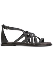 Brunello Cucinelli Strappy Sandals Black