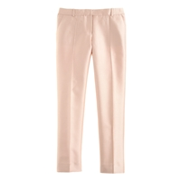 J.Crew Collection Cropped Pant In Pintucked Silk Shantung Barely Peach