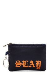 Forever 21 Slay Coin Purse Navy Multi