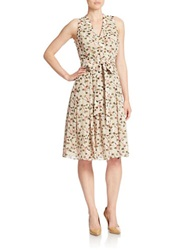 Anne Klein Belted Wrap Dress Sage Combo