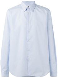 Paul Smith Ps By Contrasting Cuff Shirt Blue