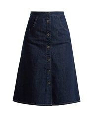 Mih Jeans Calcott Denim Skirt Indigo