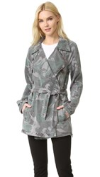 Pam And Gela Camo Trench Coat