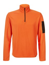 Victorinox Gefreiter Pique Half Zip Sweatshirt Orange