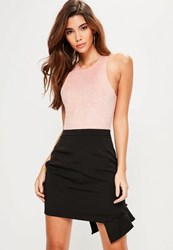 Missguided Tall Exclusive Black Frill Covered Button Mini Skirt