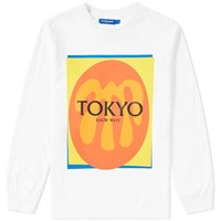 Know Wave Long Sleeve Cut Outs Tokyo Tee White