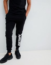 Hype Skinny Joggers With Side Logo Black