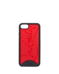Christian Louboutin Embossed Logo Loubiphone Case For Iphone 8 Black Red