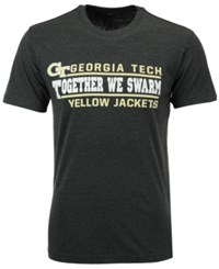 Colosseum Men's Georgia Tech Verbiage Stack T Shirt Charcoal