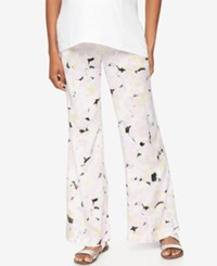 A Pea In The Pod Maternity Printed Wide Leg Soft Pants Multi Floral