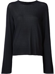 The Row Bell Sleeve T Shirt Black
