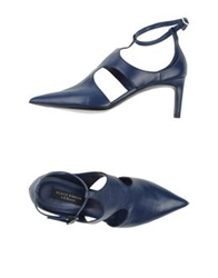 Black Ribbon For L.K. Bennett Pumps Dark Blue
