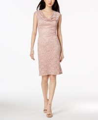 Connected Sequined Lace Sheath Dress New Nude